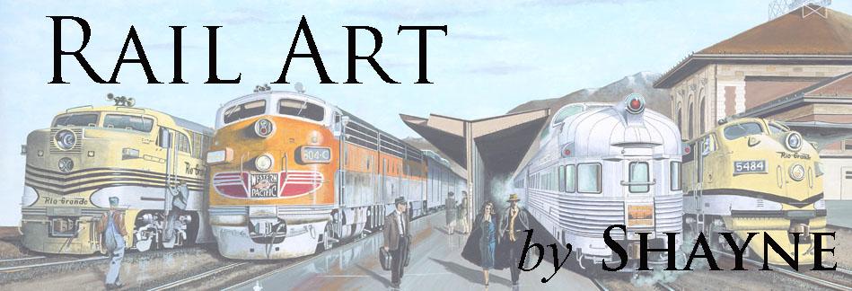 Rail Art by Shayne - Railroad Drawings